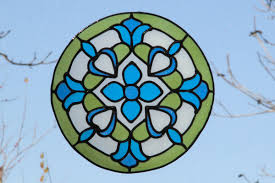 mandala stained glass handmade window sticker home