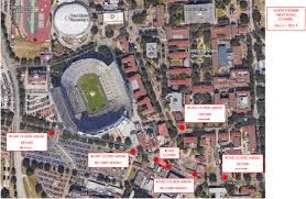 Lsu Map South Stadium Drive Road Closure