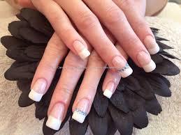 acrylic nails with french polish clothes pinterest french