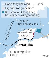 Zhuhai China Map by Hong Kong Section Of Mega Bridge Set To Open South China Morning