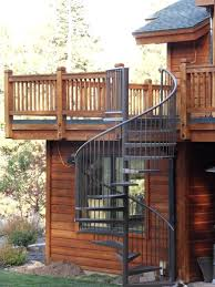 antique infinite staircase design with wrought iron step also