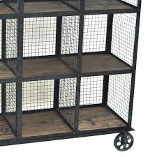 Rustic Furniture Store Industrial Metal And Wood Bookcase By Crestview Collection