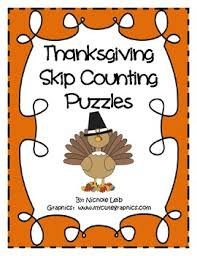 thanksgiving skip counting puzzles by l counting puzzles