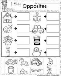 sixty pairs of opposites words for preschool kindergarten fun