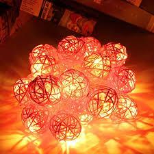rattan ball fairy lights badou 20 led light color rattan ball string fairy lights l for