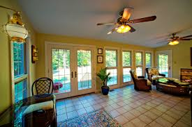 sunroom addition is gorgeous check out the italian tile vaulted