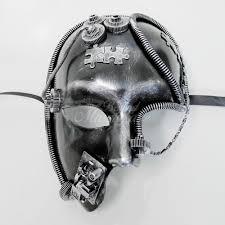 silver mask silver masquerade steunk mask usa free shipping