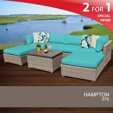 Turquoise Patio Furniture by 7 Piece Outdoor Furniture Hampton Patio 7 Piece Set