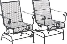 Patio Rocking Chairs Metal Metal Outdoor Rocking Chairs Steel Furniture New Within 12