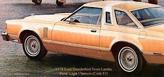 1978 ford thunderbird paint codes