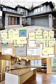 Quad Plex Plans House Front Color Elevation View For D 341 Duplex House Plans