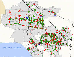 Map Of Los Angeles County by Marijuana Curbed La