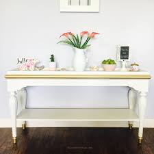 White Entry Table by Entryway Table Makeover Blossom Diysign