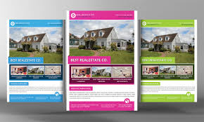 Real Estate Postcard Templates Free by Real Estate Flyer Template Flyer Templates Creative Market