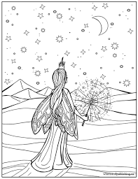 free fairy colouring free