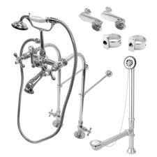Clawfoot Tub Faucet With Shower Vintage Freestanding Clawfoot Tub Faucet Package With Metal Cross
