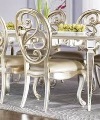 jessica mcclintock couture nine piece mirrored leg table and