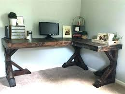 Diy Desk L Diy L Shaped Computer Desk Best Corner Makeup Vanity Ideas On
