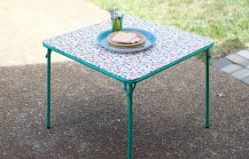 how big is a card table how to make card table makeover diy crafts handimania