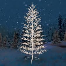 shimmering white prelit tree market flocked