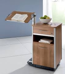 Bed Side Table by Bedside Table On Casters With Integrated Over Bed Table Cosimo