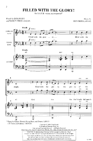 Nancy Price by Filled With The Glory Satb By Nancy Pric J W Pepper Sheet Music