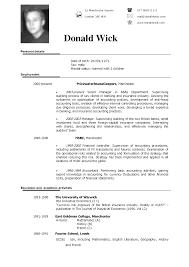 exle of cv resume cv in exle simple exle of resume in free