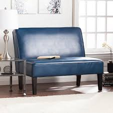 brooking faux leather settee bench blanche royal sofas