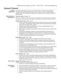sales executive resume inside sales resume exle sle representative car pictures images