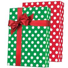 christmas gift wrap rolls shamrock reversible christmas polka dots pattern m 5459