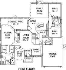 Simple Open Floor House Plans Plain Simple House Floor Plan With Dimensions Plans Walk Out In