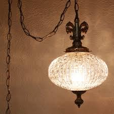 Hang Light From Ceiling Vintage Hanging Light Hanging L Glass Globe Chain Cord