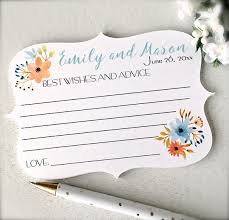 Wedding Card Advice Best Wishes And Advice Cards Wedding Cards Advice For Bride And
