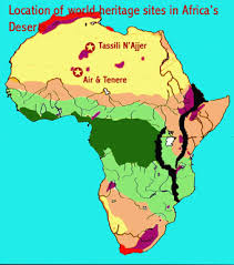 africa map deserts deserts world heritage
