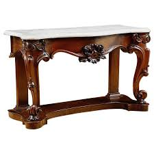 Mahogany Console Table Antique American Console Table In Mahogany With White Marble Top C