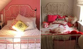 Dekoration Wohnzimmer Ecke Bett Mit Vielen Kissen