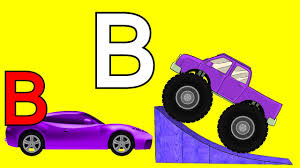 videos monster truck monster trucks teaching children the alphabet and crushing cars