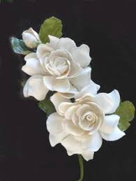 gardenia corsage 1930s 1940s 2 creamy white flowers with bud