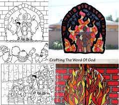 fiery furnace coloring page journey off the map bible crafts crafting the word of god