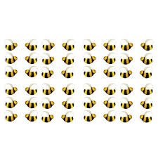 bumble bee 45222 4 cake dec ons decorations 48 pack by decopac