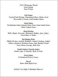 brunch wedding menu option for brunch menu one day brunch menu