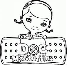 doc mcstuffins friends coloring pages for kids printable free in