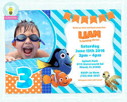 finding nemo birthday invitation with photo finding nemo party