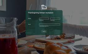 thanksgiving dinner form theme store