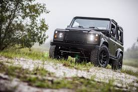 jeep land rover corvette engined land rover defender 90
