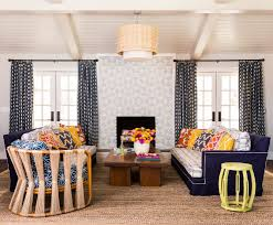 brick fireplace living room mediterranean with jacksonville