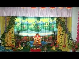Home Ganpati Decoration Home Ganpati Decoration Images Youtube