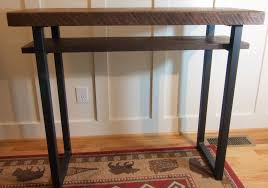 Wood Sofa Table Custom Made Reclaimed Wood Sofa Table Rustic Tall Oak Entry Way