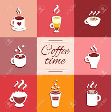 espresso coffee clipart collection of cup icons with coffee drinks espresso latte