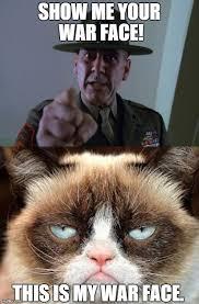 War Face Meme - grumpy warface imgflip